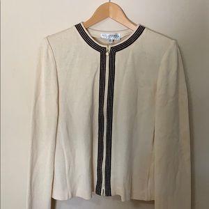 St. John Collection knit stripe jacket